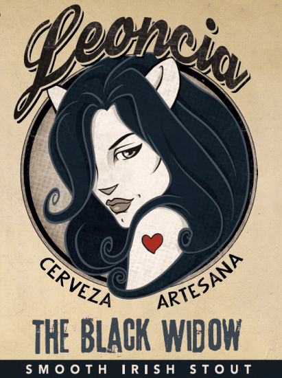 ⭑ The Black Widow ⭑ - 6 botellines
