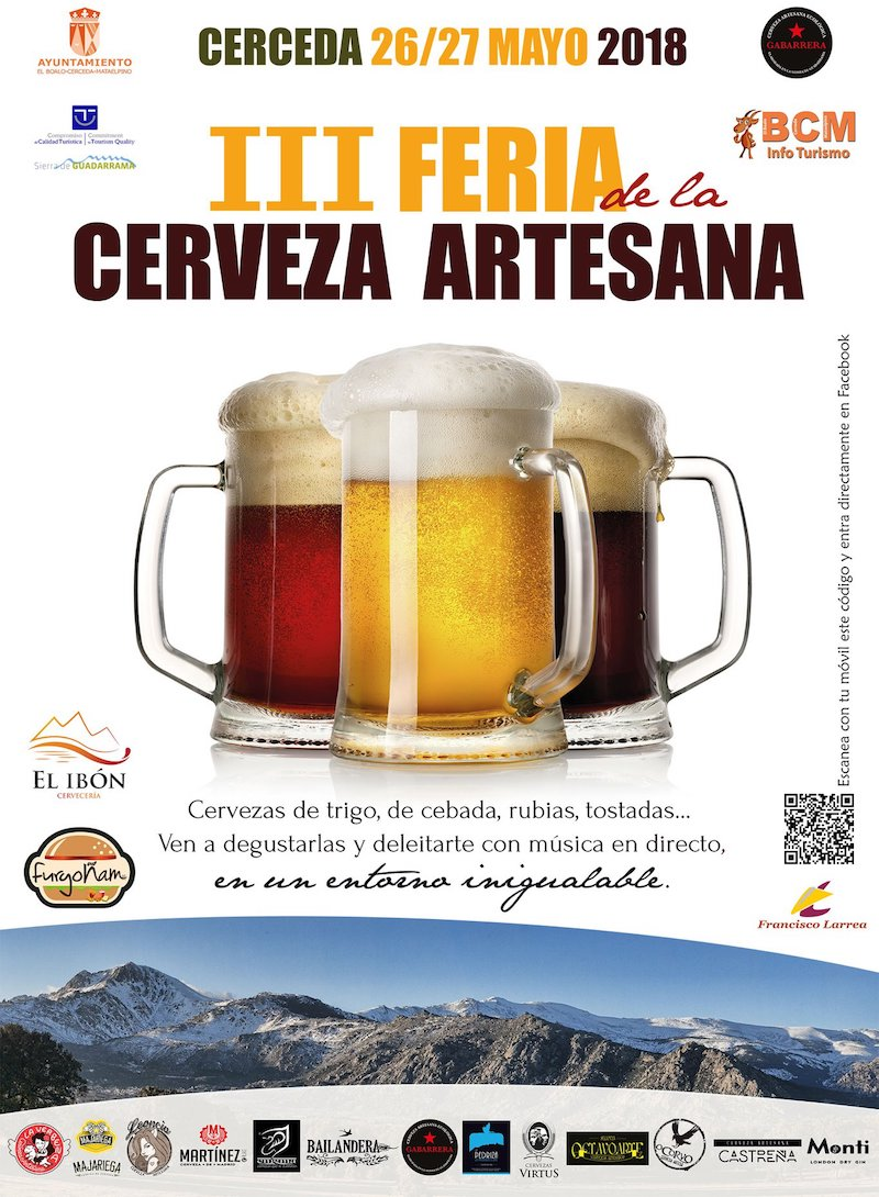Flayer de la Feria de Cervezas artesanas de Cerceda 2018