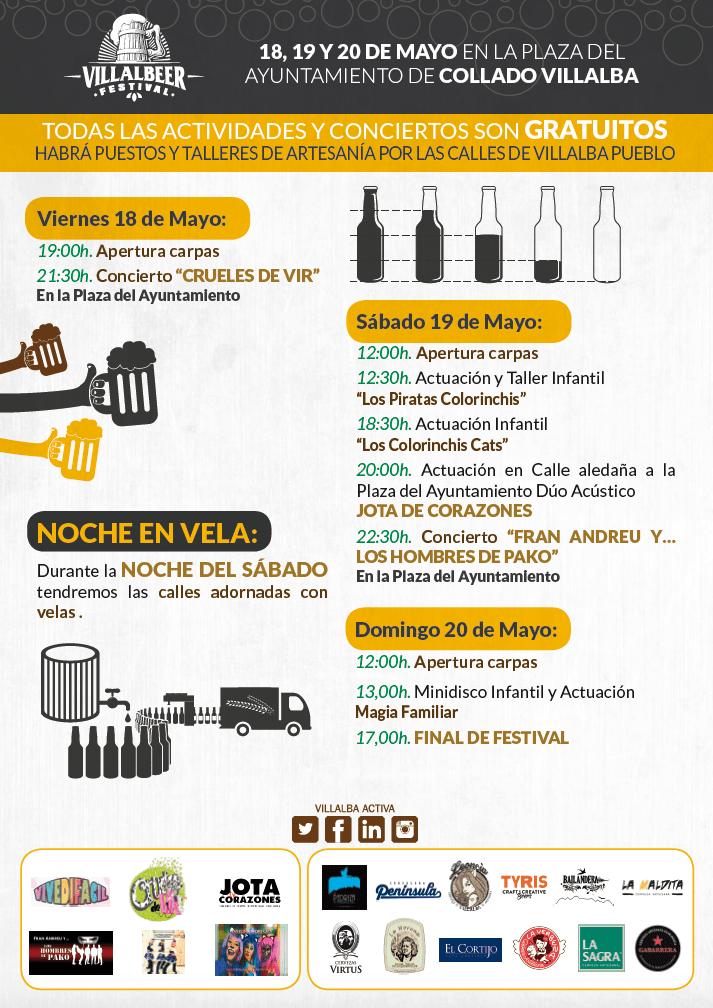 Programa de la Feria de la Cerveza Artesana de Villaba Villalbeer 2018