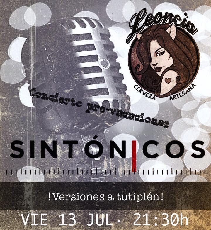 Flyer Concierto de Sintónicos en la Fábrica de Cervezas Leoncia
