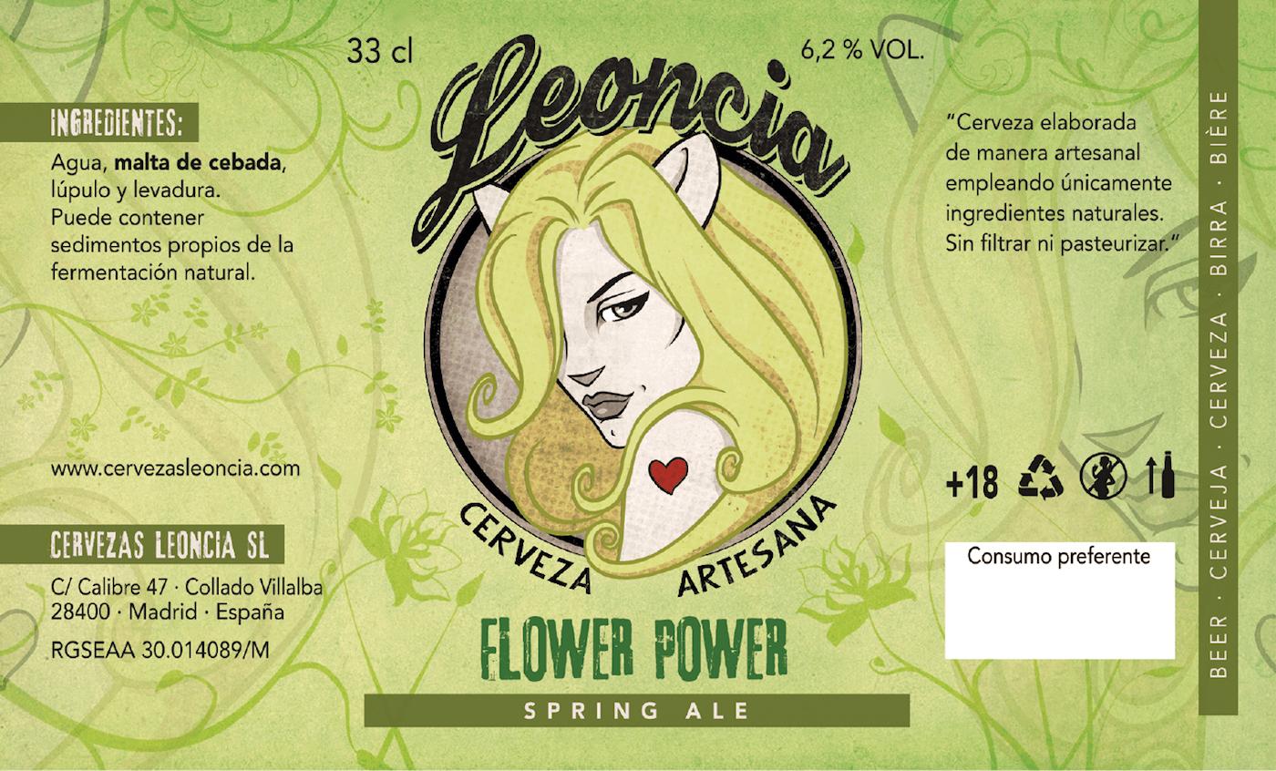 Cerveza artesanal Flower Power Spring Ale.