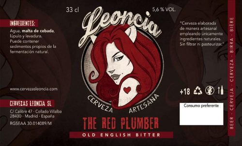 Cerveza artesana Leoncia Red Plumber Old English Bitter