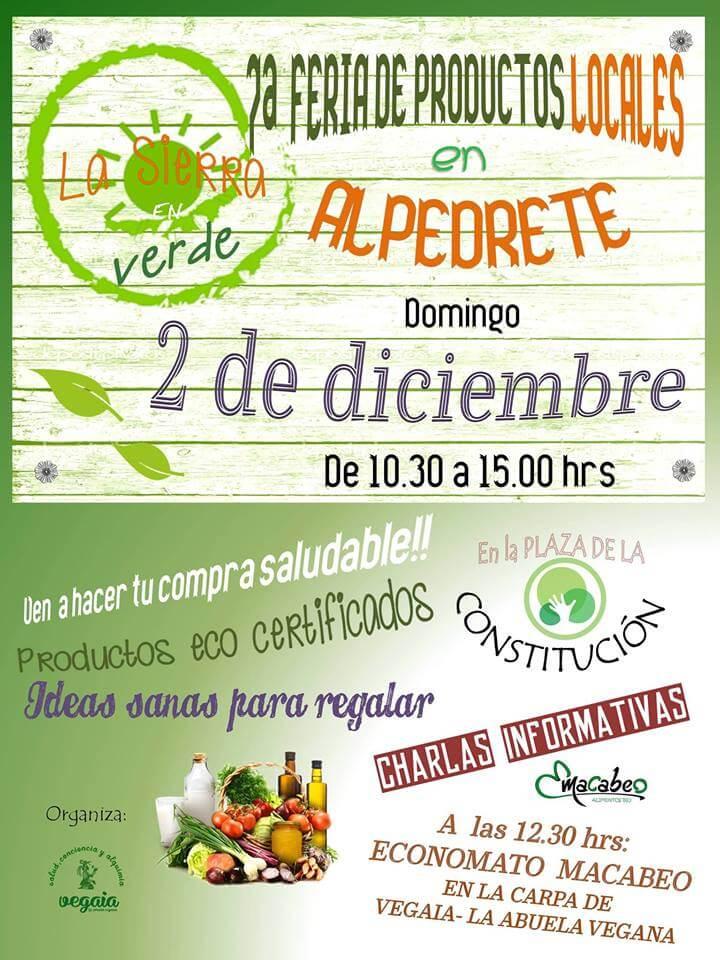 Banner de la Feria de productos locales en Alpedrete