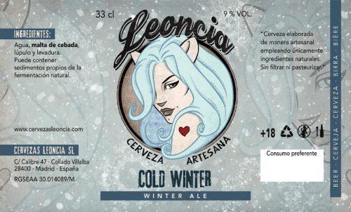 Cerveza artesana Leoncia Cold Winter Ale