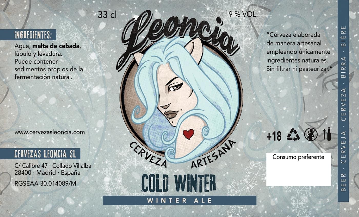Presentación de la cerveza artesana Leoncia Cold Winter Ale
