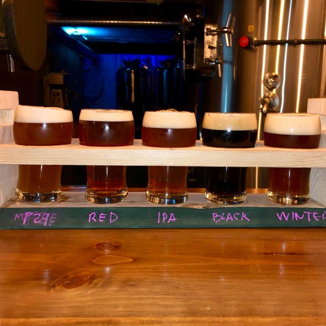 Tabla de degustación de Cervezas Artesanas Leoncia