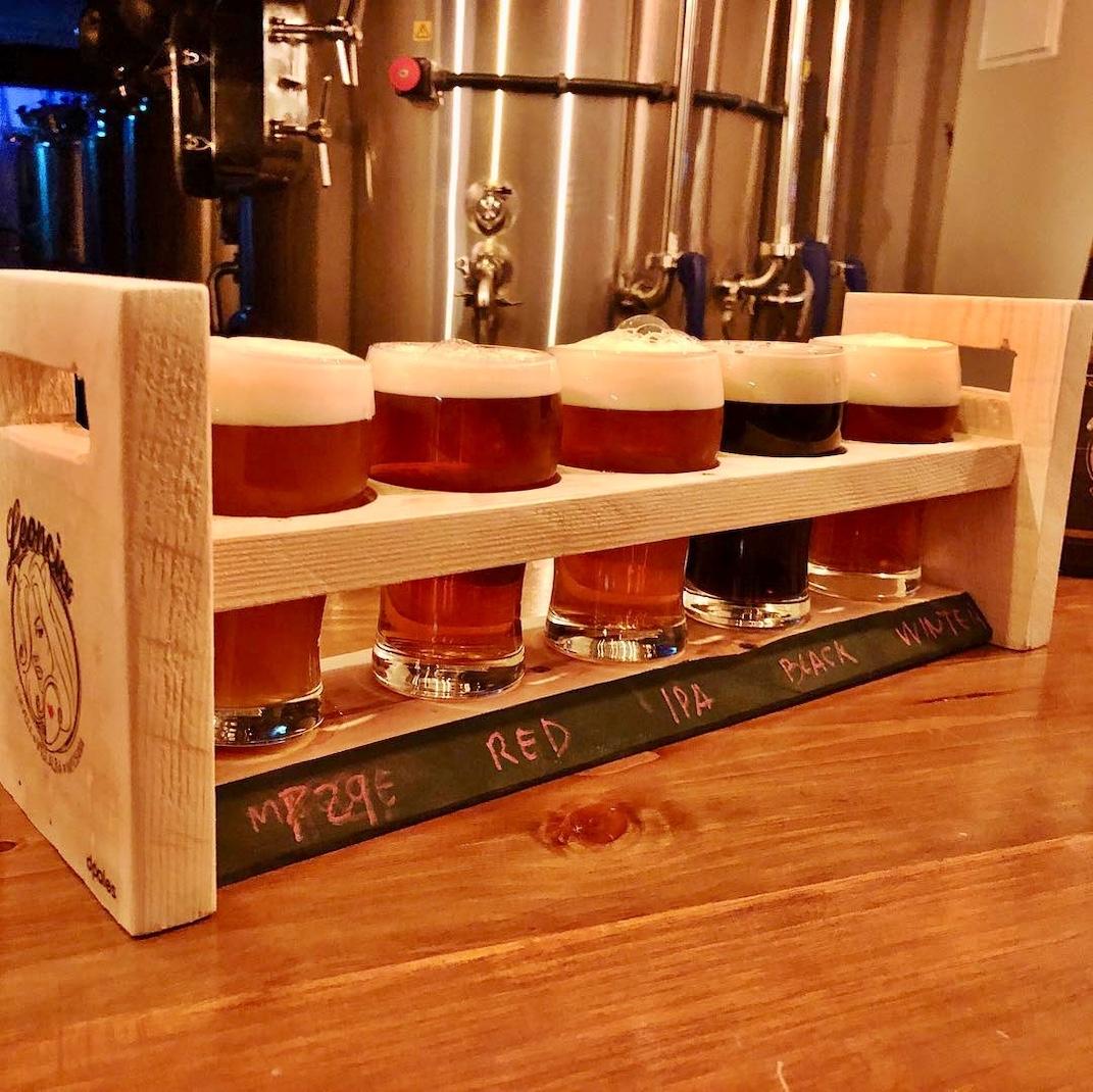 Tabla de degustacion de Cervezas Artesanas Leoncia