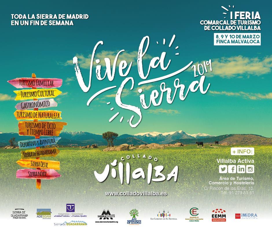 Flayer de la I Feria del Turismo Comarcal de Collado Villalba, vicve la Sierra 2019