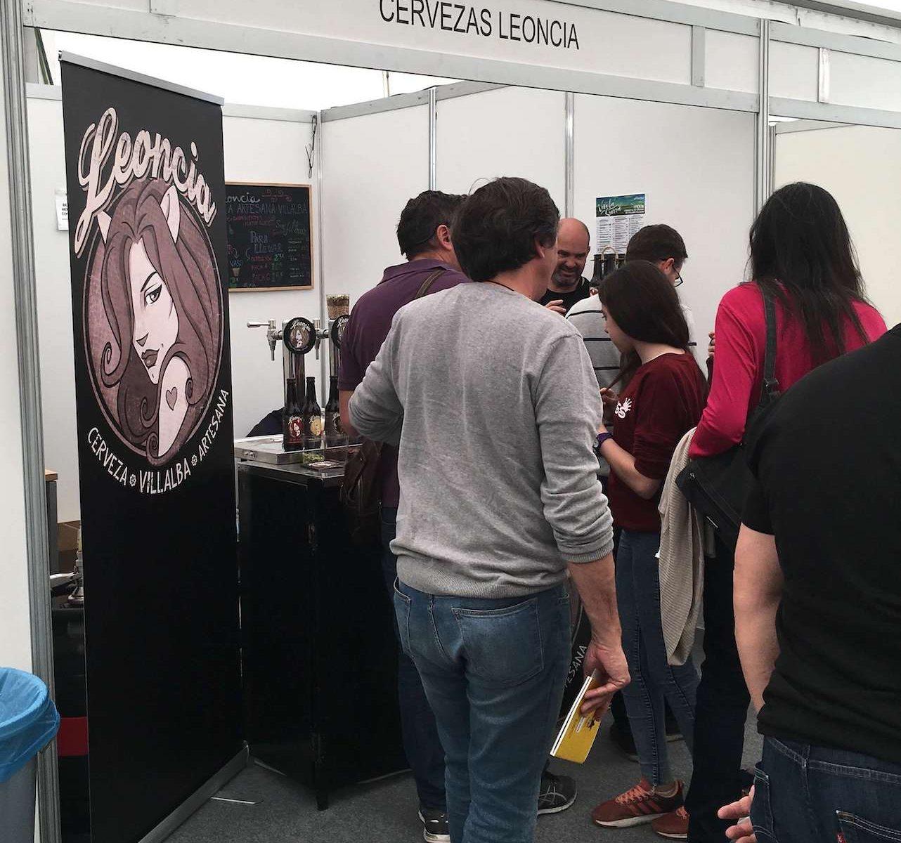 Cervezas artesanas Leoncia en Vive la Sierra2019