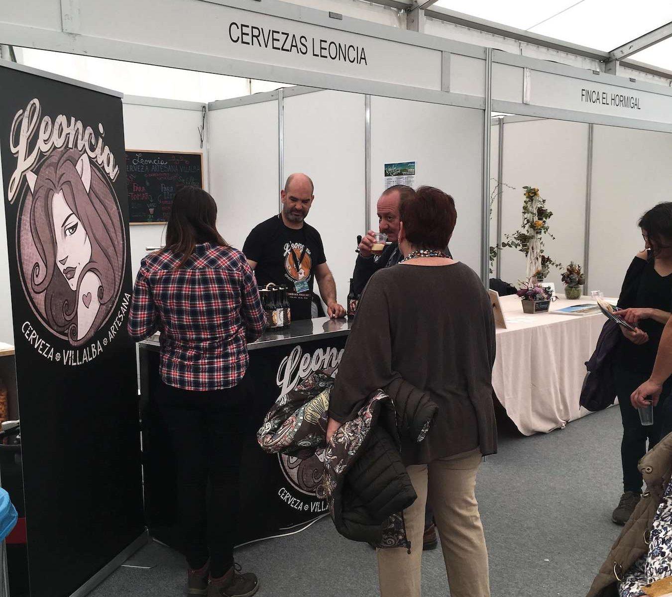 Cervezas artesanas Leoncia en Vive la Sierra 2019