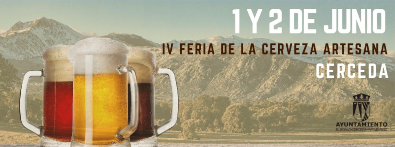 Feria de Cerveza Artesana de Cerceda el 1 y 2 de junio de 2019