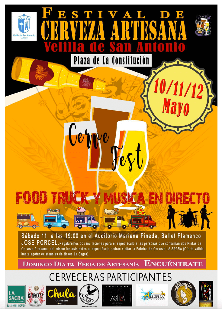 Cervezas Leoncia estará en el Festival de la Cerveza Artesana Velilla de San Antonio 2019