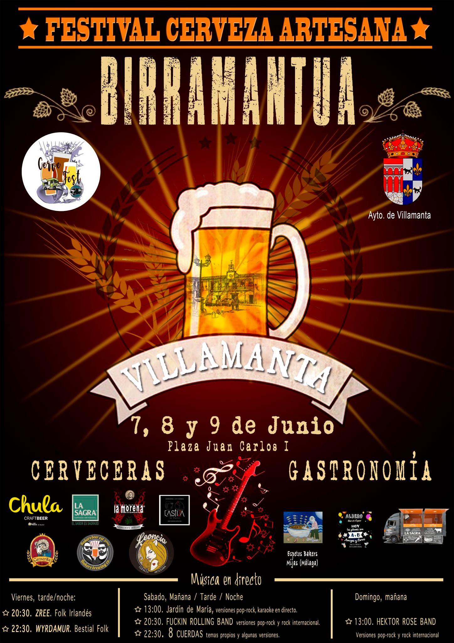 Cervezas Leoncia estará en Birramantua 2019, Festival de Cerveza Artesana de Villamanta