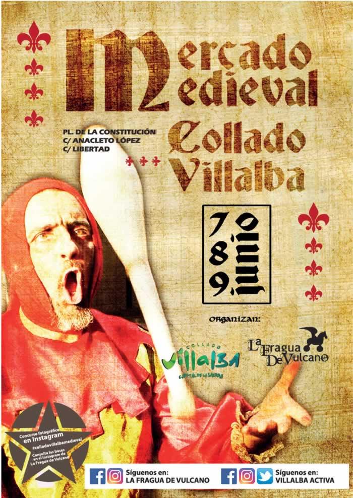 Mercado Medieval 2019 en collado villalba cartel