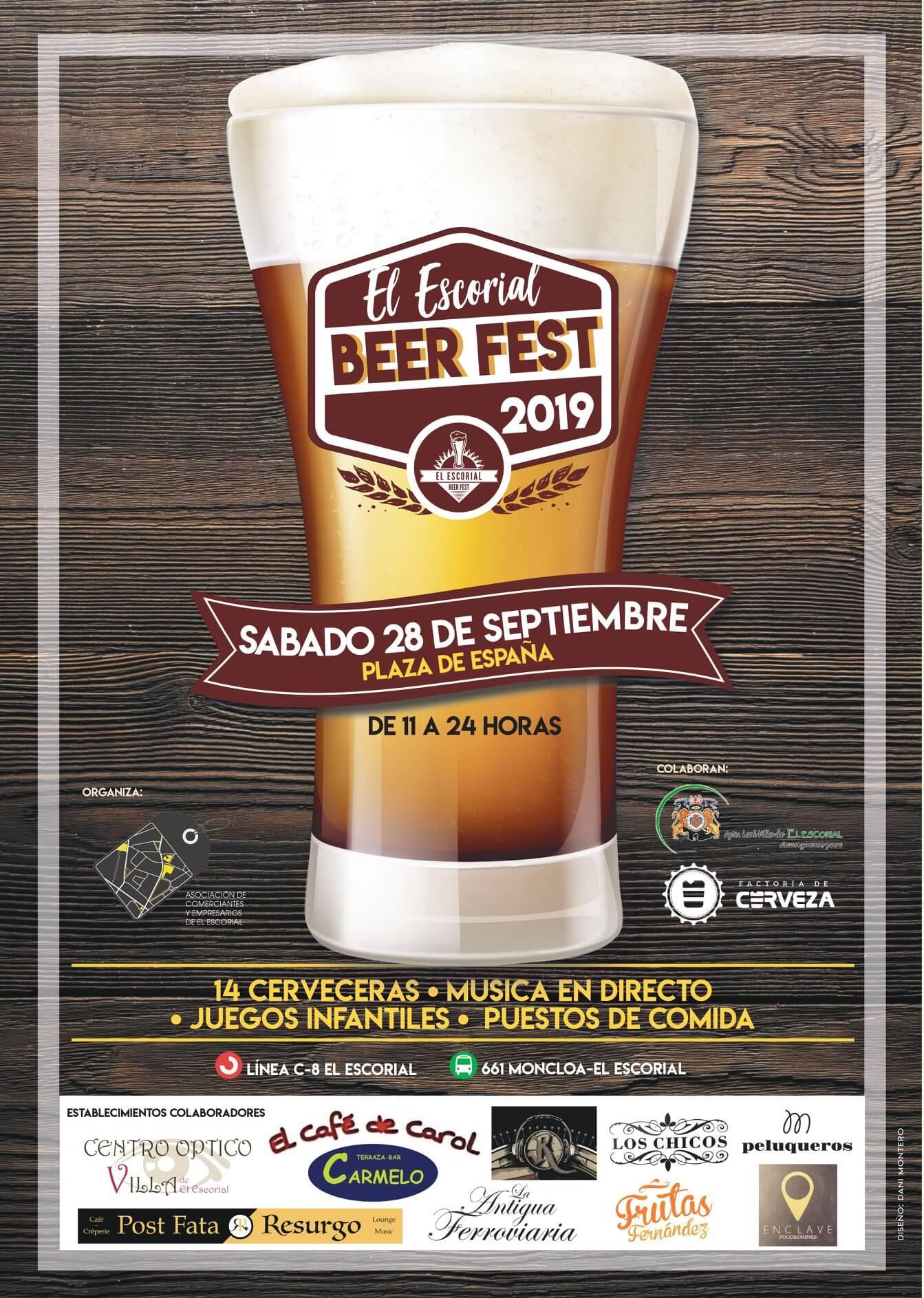 Feria de Cervezas Artesana de El Escorial en septiembre de 2019